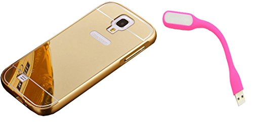 Novo Style Back Cover Case with Bumper Frame Case for Samsung I9500 Galaxy S4 Golden + Mini USB LED Light Adjust Angle / bendable Portable Flexible USB Light  available at amazon for Rs.329