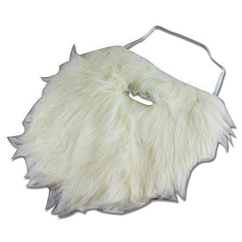 thematys Weißer Weihnachtsmann Zwergen-Bart zum Ankleben - Kostüm für Erwachsene & Kinder - perfekt für Fasching, Karneval & Weihnachten - Universal Damen Herren (Holzfäller Bart Kostüm)