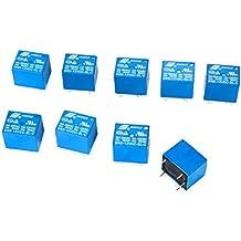 SONGLE Mini relé Electromagnético de Alimentación SPDT 12V 10A Montaje - Pin para PCB, 10 Unidades, Control Aplicaciones Electrodomésticos BI084