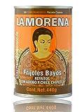 Frijoles Bayos Refritos con Adobo y Chile Chipotle, La Morena