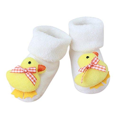 FNKDOR Kuscheltier Babysocken, 0-1 Jahr Baby Baumwolle Elastizität Born Schuhe Söckchen (K)