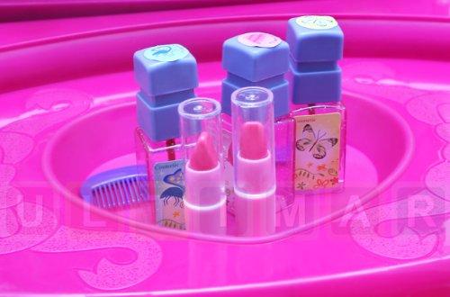Frisiertisch Schminkkommode Schminktisch Schminkstudio Kinderschminktisch Set mit Spiegel und Hocker - 3