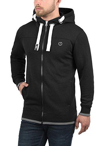 SOLID BenjaminZip Herren Sweatjacke Kapuzen-Jacke Zip-Hoodie mit Kapuze und optionalem Teddy-Futter aus hochwertiger Baumwollmischung Black (9000)