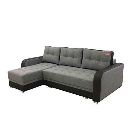 Ecksofa Merano RS, Eckcouch Sofa mit Bettkasten und Schlaffunktion! L-Form Couch, Ottomane Universal, Schlafsofa vom Hersteller (Lotus 14 + Madryt Honey 1100)