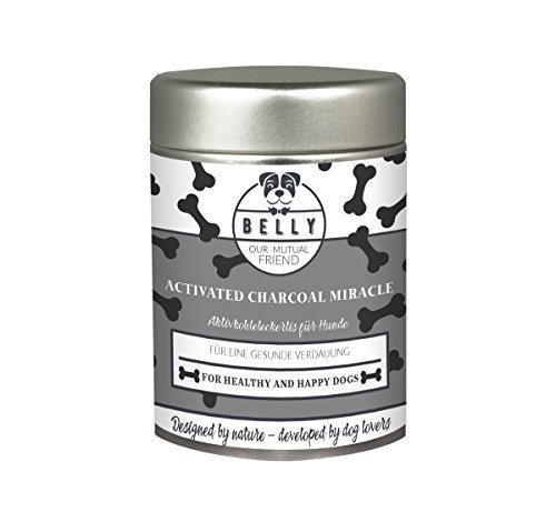 BELLY Activated Carbon Powder for Dogs by Activated Charcoal Miracle | Dog Supplements | Nutritional Supplements for Puppy | Alternative for Capsules