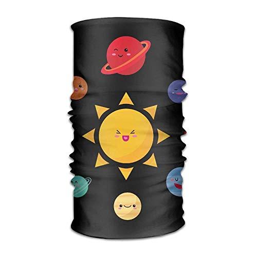 Juzijiang Cute Solar System Headwear Bandanas Seamless Headscarf Outdoor Sport Headdress 9.8W x19.7L inches Cute Devil Girl