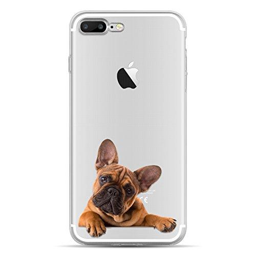 iPhone 8, iPhone 7 Hülle | JAMMYLIZARD Transparente Schutzhülle Sketch Back Cover Case aus Silikon, Mario Brüder BULLDOGGE