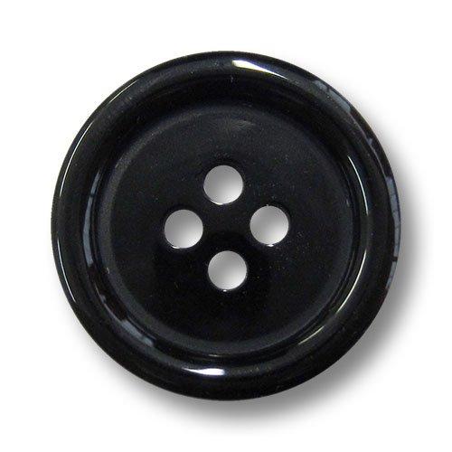 style 2 10mm 2 trous 10 chemise noire boutons