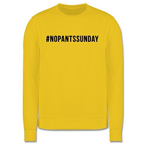 Statement Shirts - #nopantssunday - Herren Premium Pullover Gelb