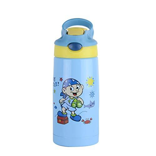 ZJFSL Edelstahl-Vakuum-Kinderwasserflasche Keep Cold and Hot Drink Flask 300ml,2