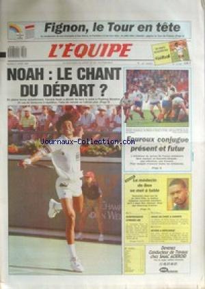 EQUIPE (L') [No 13335] du 21/03/1989 - FIGNON LE TOUR EN TETE - NOAH - FOUROUX BEN JOHNSON - AUTO - CITROEN XM - FOOT - CANNES - NATATION - MYERS.