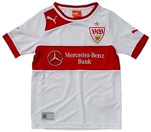 PUMA Herren Trikot VFB Stuttgart Home Shirt Replica, white-team regal red, XS, 741259 01