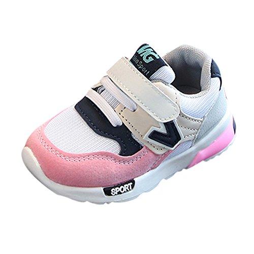Niedlich Kind Baby Säugling Junge Mädchen weiche Sohle Kleinkind Schuhe Leinwand Sneak (0-6 Monat, Blau) (Boys Kleinkind Sneakers Größe 6)