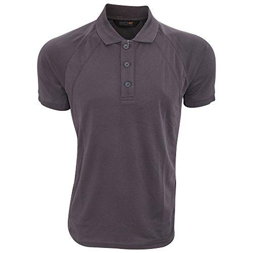 Regatta Hardwear Herren Coolweave Kurzarm Polo Shirt Eisen