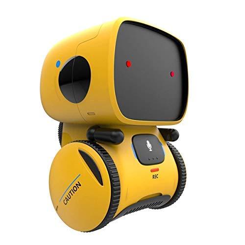 RCTecnic Mini Robot Interactivo para Niños Apollo con Sensor de Gestos, Habla, Graba Voz, Canta Y Baila   Juguete...