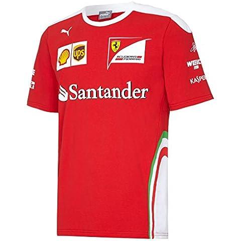 Nuovo. Sebastian Vettel # 5F12016driver maglietta (Mens) Ferrari Formula 1Team, rosso/bianco