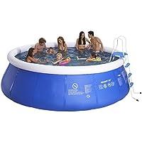 Jilong jl017130nd–P27Quick Up Pool con pompa filtro cartucce, Scaletta, fondo e telone di copertura, 450x 122cm, colore: blu Navy