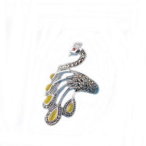zhenfa S925 Silberring,s925 Versilberter Damen Vogel Eingelegter Perlenring,Vintage Gravur Beschichtungsprozess,Einstellbarer Ring,hypoallergen,mit Einer Ringbox
