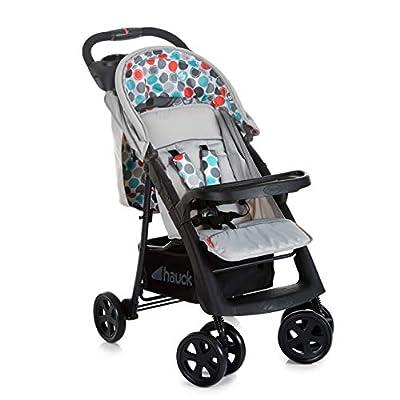 Fisher-Price Buggy Orlando - Kinderwagen bis 22 kg belastbar, mit einer Hand zusammenklappbar | Liegeposition, Schieber-Ablage, Schutzbügel mit Tablett - Grau