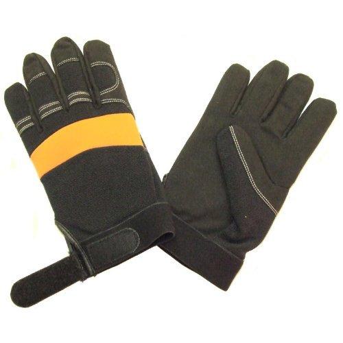 Full Gel Filled Anti Vibration Work Gloves Medium, Size 9 by RocwooD -