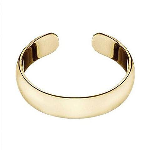 European Fashion Hawaiian Beach Toe Ring Metal Material Jewelry (Yellow Gold)