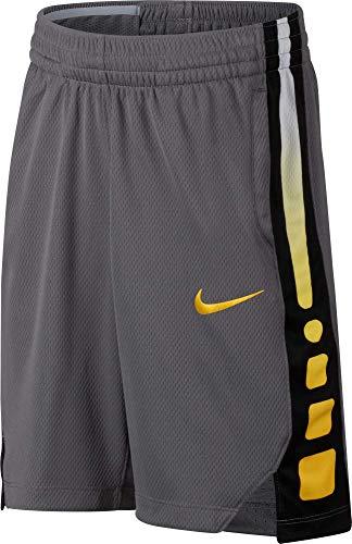 Nike Jungen Dri-FIT Elite Basketballshorts Gunsmoke (Amarillo), S