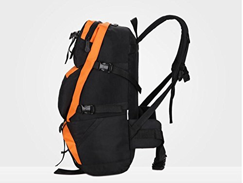 LQABW Outdoor-Mann-Freizeit-Sport-Spielraum-Schulter-große Kapazitäts-Tourist Mountaineering Oxford Tuch Wasserdicht Reduzierte Wandernde Kletternde Rucksack Tasche Orange