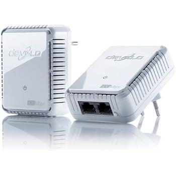 devolo dLAN 500 duo Starter Kit Powerline (500 Mbit/s Internet über die Steckdose, 2x LAN Ports, 2x Power Line Adapter, PLC Netzwerkadapter) weiß