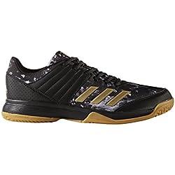 adidas Ligra 5, Zapatillas de Balonmano para Hombre, Negro (Core Black/Gold Met/Ftwr White), 44 2/3 EU