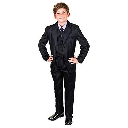 Les Voiliers 6tlg. Kinder Fest Anzug Kommunionsanzug Smoking extra Hemd in vielen Farben M289hfl Hemd Flieder Gr. 6/110 / 116