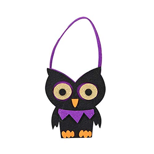 Moonuy Halloween Süßigkeitstasche Nette Hexen Verpackung Kinder Party Aufbewahrungstasche Geschenk Multicolor Kürbis Halloween Dekoration