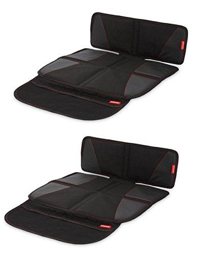 Kindersitzunterlage 2er Set 48,3 cm x 86,4 cm Kindersitz Unterlage oder Unterlage für Autositze mit Netztasche und extra dickem Material rutschfeste Oberfläche