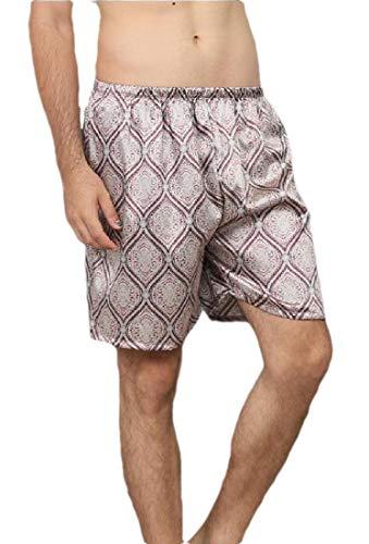 Gocgt Herren Satin Seidig Boxershorts Unterwäsche Sommer Lounge Sport Panty Kurze Hose Gr. XL, 7 -