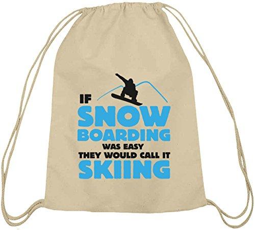 If Snowboarding Was Easy, Wintersport Après Ski Baumwoll natur Turnbeutel Rucksack Sport Beutel Natur