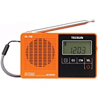 TECSUN PL-118 Ultra-Light Mini Radio, PLL DSP FM Band Radio (Orange)