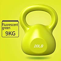 Kettlebell Weights - 4 Sizes 4 Color Available, Comfort Grip Wide Handle, Color Coded Kettlebell Weight Set for Women Fitness & Cross-Training,20LB