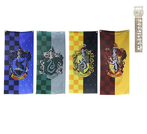 TPOTTER 4pcs[100X45CM] cumpleaños Banners Banderas