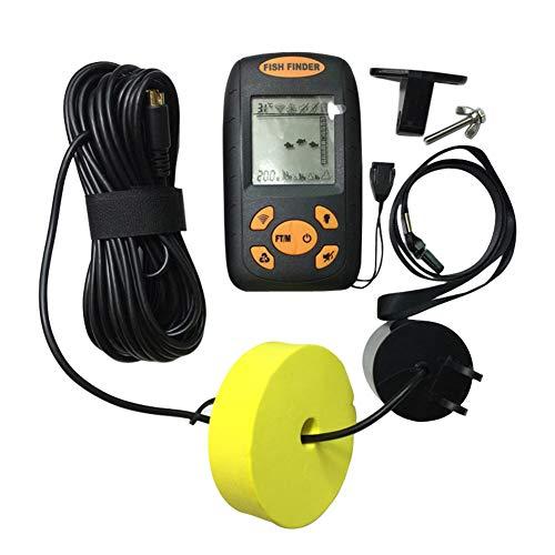 Hommy Fischfinder für den Außenbereich, professionelles LCD-Display, einfache Bedienung, tragbar, praktisch, sensibel, nützlich, kabellos, Ultraschall, leicht, mit Alarm, wasserfest