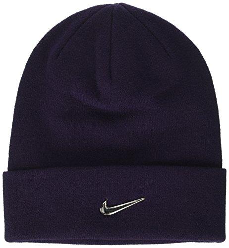 Nike Y Nk Beanie Metal Swoosh - Cappello da bambini, colore Viola, taglia unica