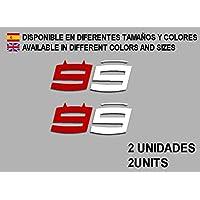 PEGATINAS STICKERS MOTO 99 LORENZO MOTO GP F64 AUFKLEBER DECALS AUTOCOLLANTS ADESIVI (ROJO BLANCO/RED WHITE)