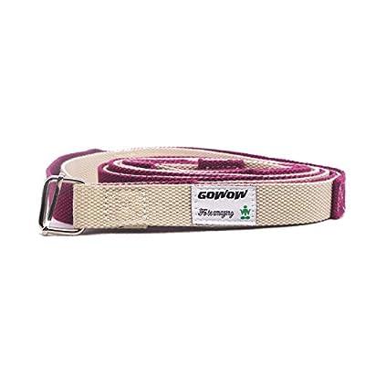 Yoga-Belt Gurt 100% Baumwolle mit stabilem Metall-Ring-Verschluss