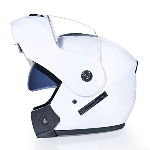 Nuevo Casco de Motocicleta Lente Doble Visera Solar Flip Off-Road Casco de Motocicleta Cálido A Prueba de Viento Arena A...