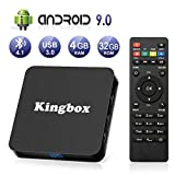 Android 9.0 TV Box 4K Boîtier TV [4GB RAM+32GB ROM ]USB 3.0 [2019 Dernière Version] SUPERPOW K4 S Android 9.0 Smart TV, Android Box avec HD/H.265 / 4K / 3D / BT4.1