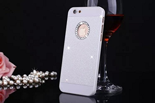 sibaina PC Diamant Etui rigide pour Apple iPhone, bling Glitter Poudre Brillant PC Diamant Etui rigide pour iPhone 455s 6S 11,9cm DIY cristal strass strass sac à main fundas, doré, For Iphone6 6s p blanc