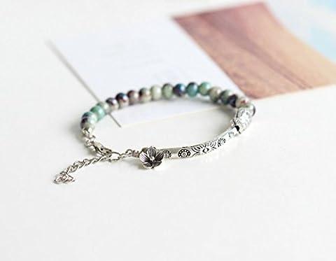 Beautiful fashion Handmade Vintage Style Porcelain Beads Elastic Bracelet /Jewelry/ gift (color 5)