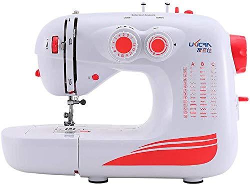 LIIYANN Tragbare Nähmaschine - 42 Stitch, elektrische Overlock-Nähmaschine mit Fußpedal, 2 Geschwindigkeitsregler, kleines Haushalts-Nähwerkzeug, leicht, weiß