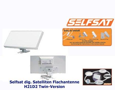 Selfsat H21D2 - Antenna satellitare per 2 utenti