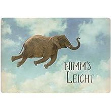 Postkarte Nimm es leicht fliegender Elefant ca. 15 x 10,5 cm bunt