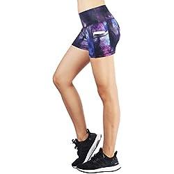 Munvot Mujer Leggins EstampadosPantalones Cómodos para Correr Golf Yoga y Pilates M