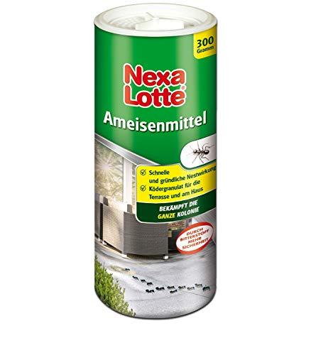 Nexa Lotte Ameisenmittel, Gießmittel zum Bekämpfen von Ameisen, Ameisengift mit Nestwirkung zum Gießen, Mit Bitterstoff für mehr Sicherheit, mit Ultra-Lockformel, 300 g